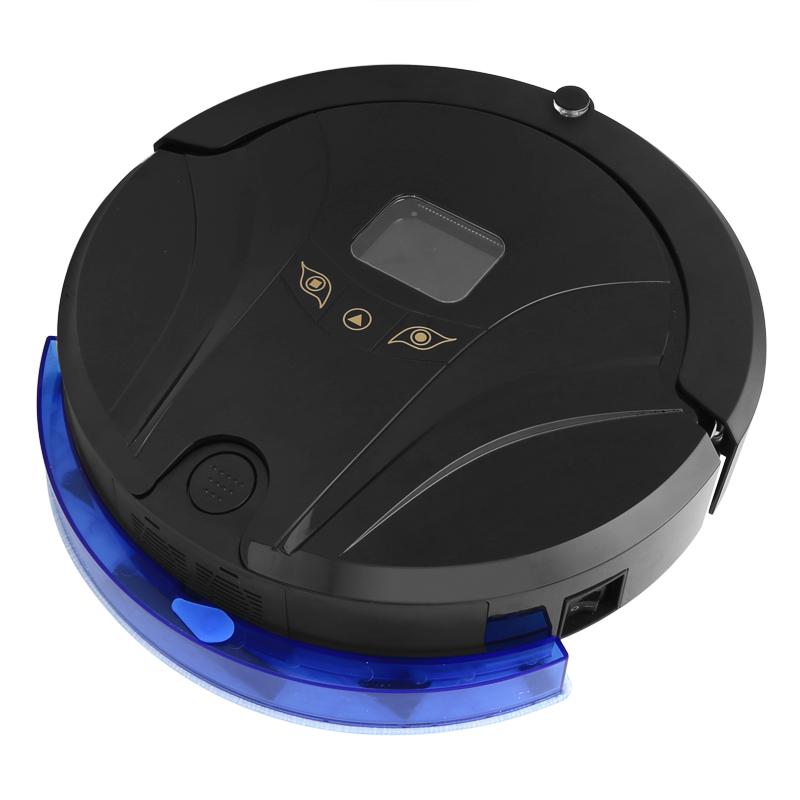 Aosder Aosder 244- Robotický vysavač - 800Pa sání, automatické dobíjení, 2000mAh, 4 Čištící režimy, dálkové ovládání, černý