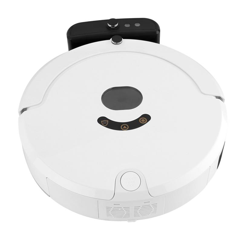 Aosder Aosder 244- Robotický vysavač - 800Pa sání, automatické dobíjení, 2000mAh, 4 Čištící režimy, dálkové ovládání, bílá