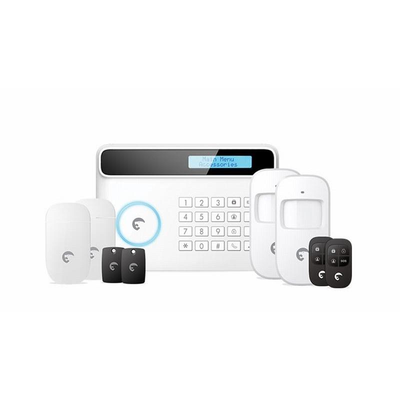 Etiger Etiger S4 Wireless 433mhz Síťový GSM LED displej Domácí bezpečnostní alarmový systém Práce se SIM kartou na GSM, bílá