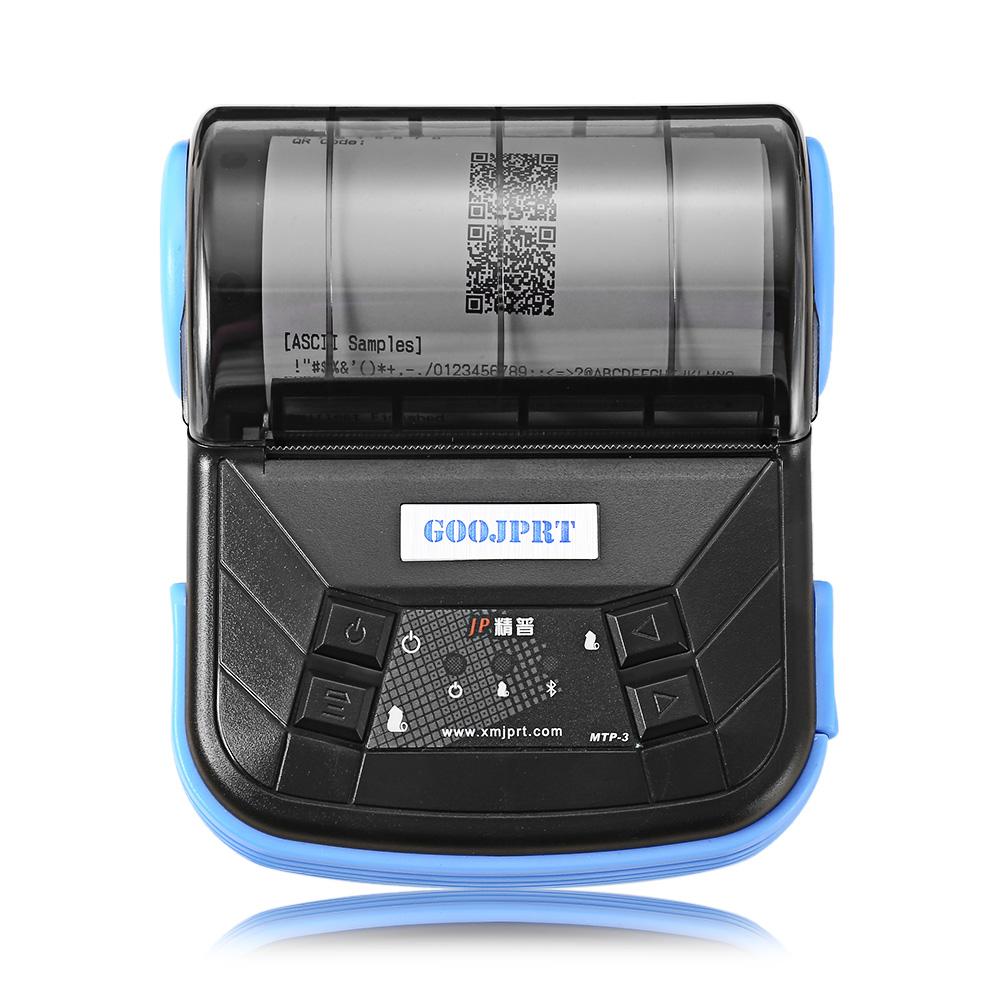 JPrint JPrinter - MTP - 3, 80mm mobilní mini přenosná tepelná tiskárna Android, Windows, IOS, Bluetooth 2.0 tiskárna, černá