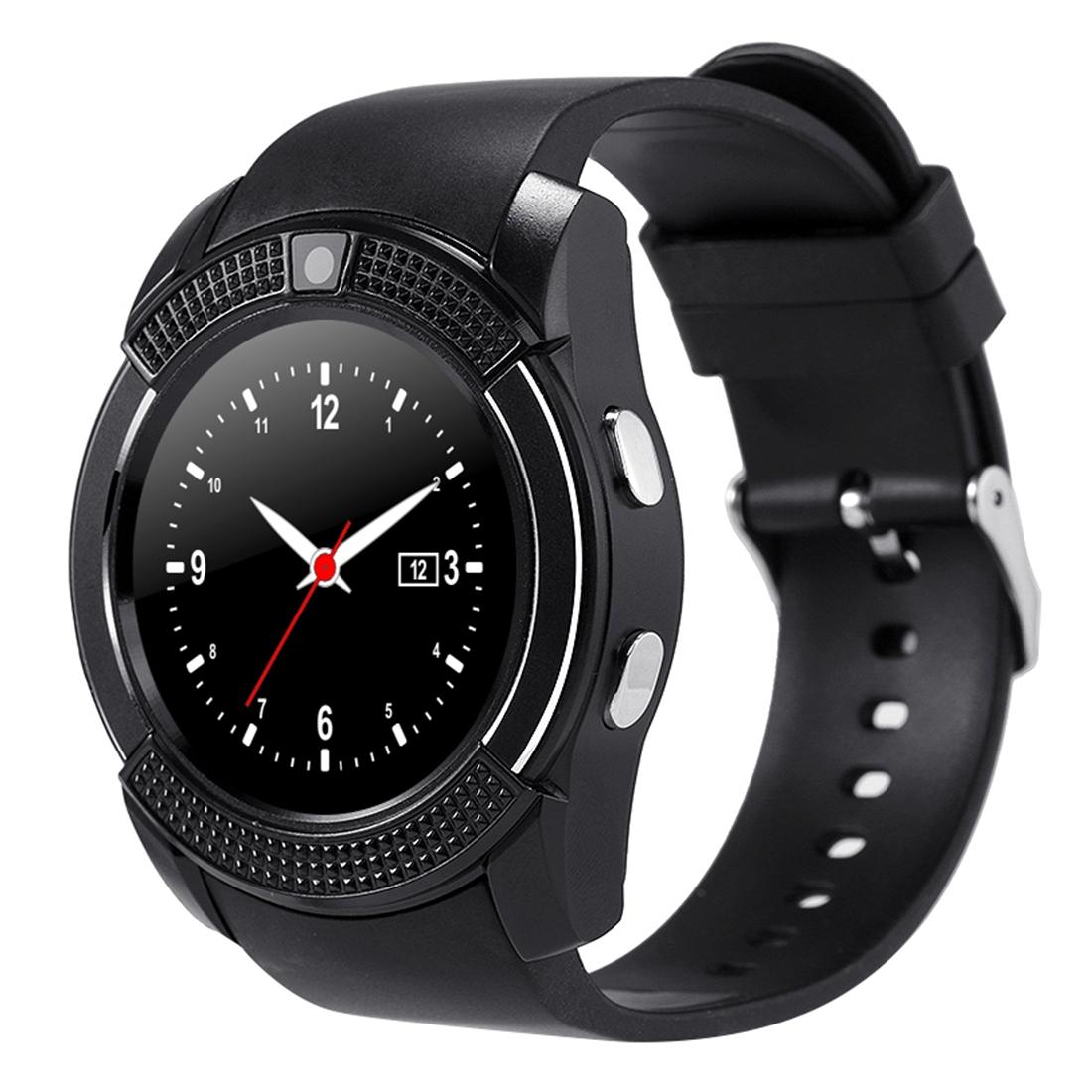 X-Watch Xwatch V8 1,22 palcový dotykový displej, 2G volání, Bluetooth Smart hodinky s 0.3MP fotoaparátem, pedometer, hudební přehrávač, sledování spánku, vzdálené snímání, TF karta, černá
