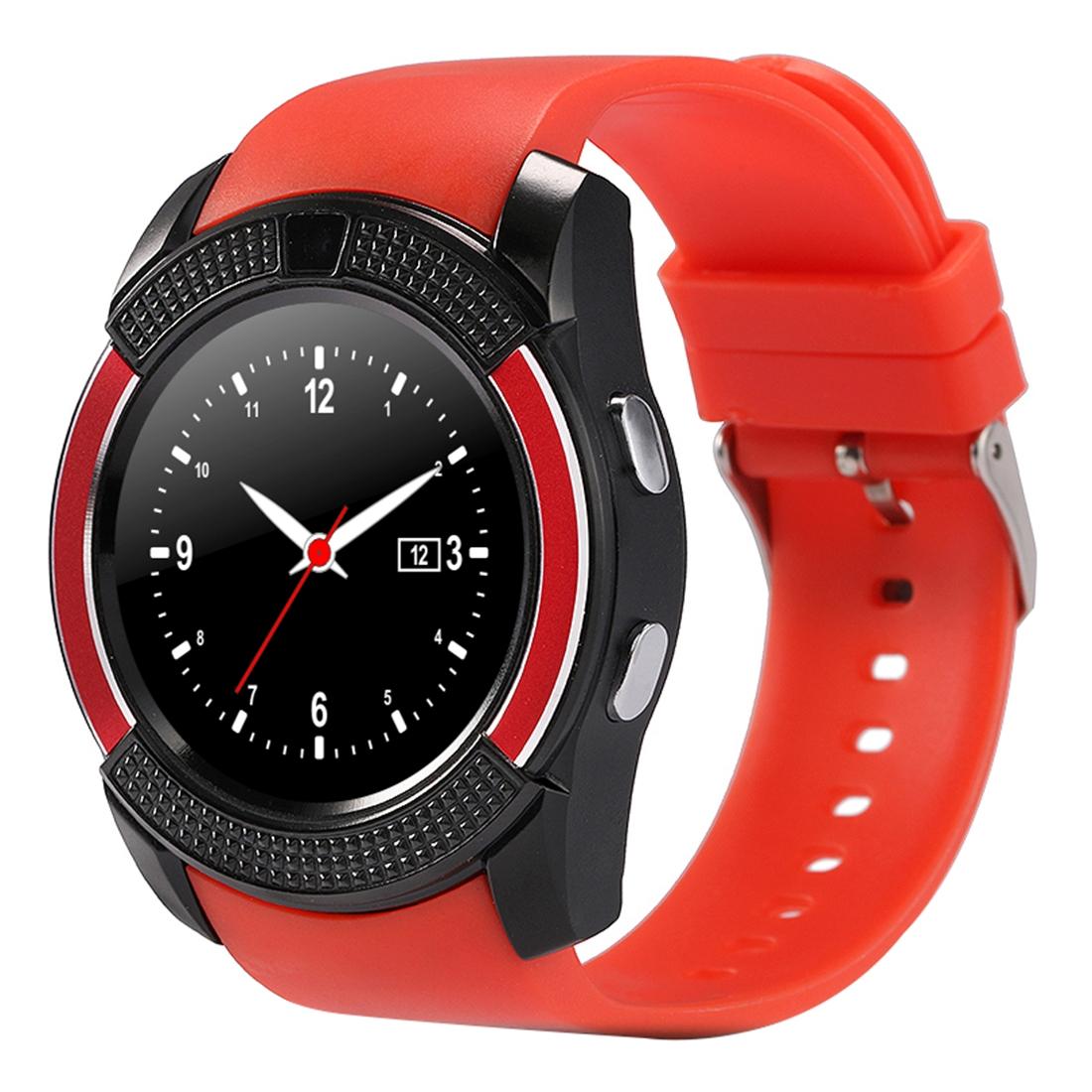 X-Watch Xwatch V8 1,22 palcový dotykový displej, 2G volání, Bluetooth Smart hodinky s 0.3MP fotoaparátem, pedometer, hudební přehrávač, sledování spánku, vzdálené snímání, TF karta, červená