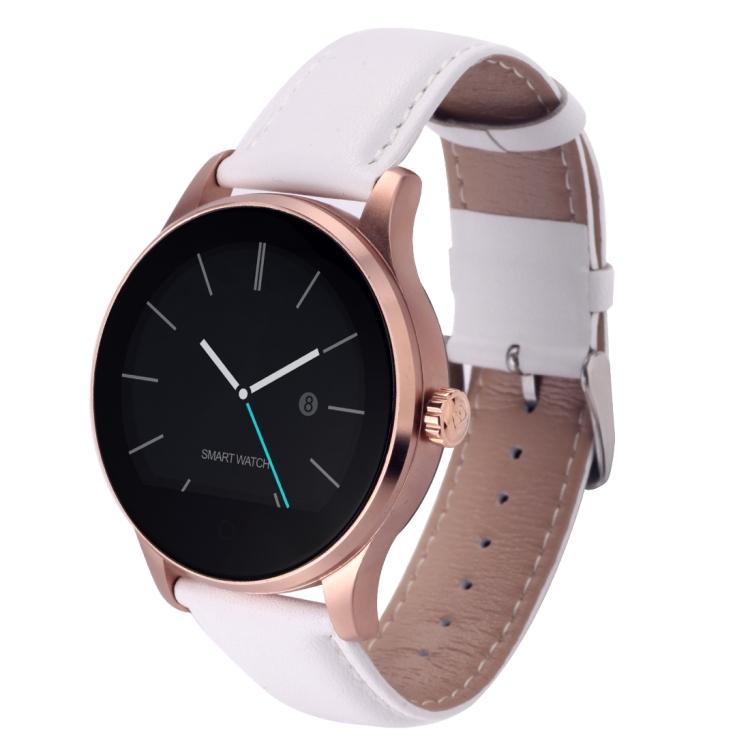 Vitmood Smart Watch K88H kůže bílá-zlatá