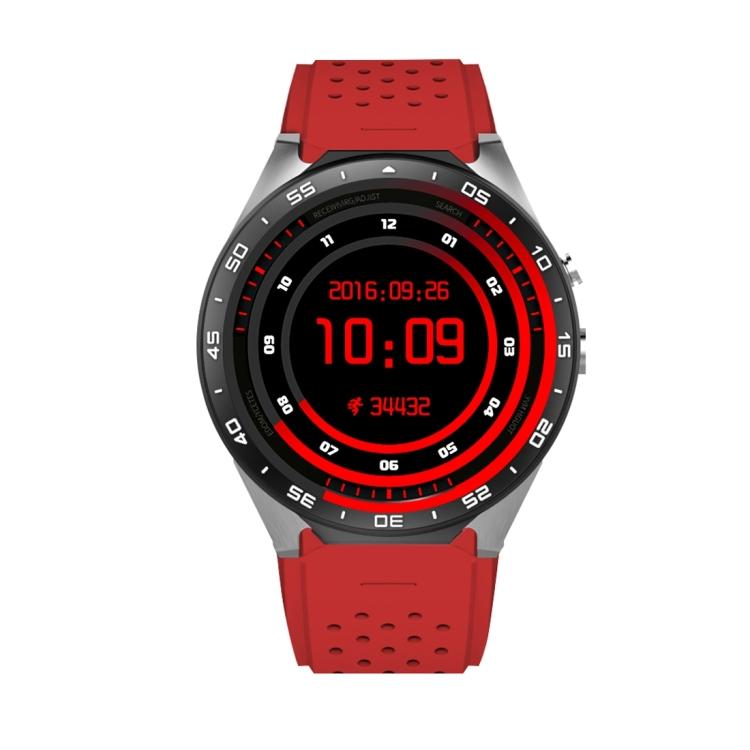 "KingWear KingWear KW88 chytré hodinky s telefonem, 1.39"" Amoled displej,3G,Android 5.1, červená-stříbrná"