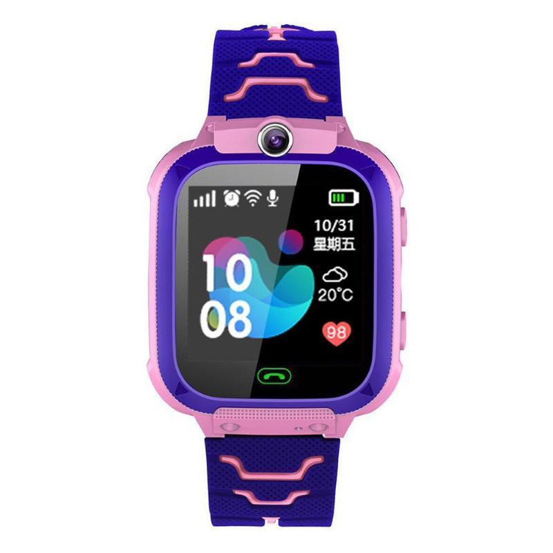 Wonlex Wonlex Q528 dětské SOS chytré hodinky, růžová-fialová