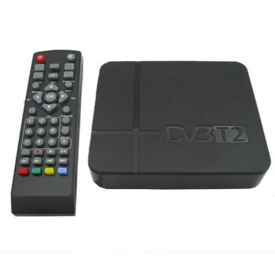 Cotier Cotier - K2, Mini přijímač HD DVB-T2 Set Top Box, podpora USB / HDMI / MPEG4 / H.264, černá