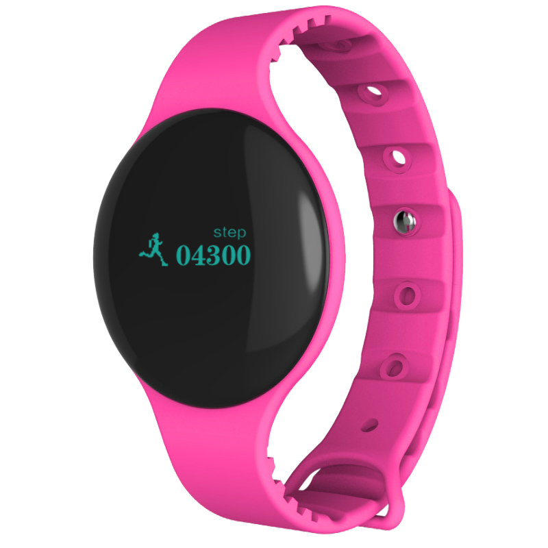 H8 Inteligentní náramek Bluetooth 4.0 LED displej, růžová