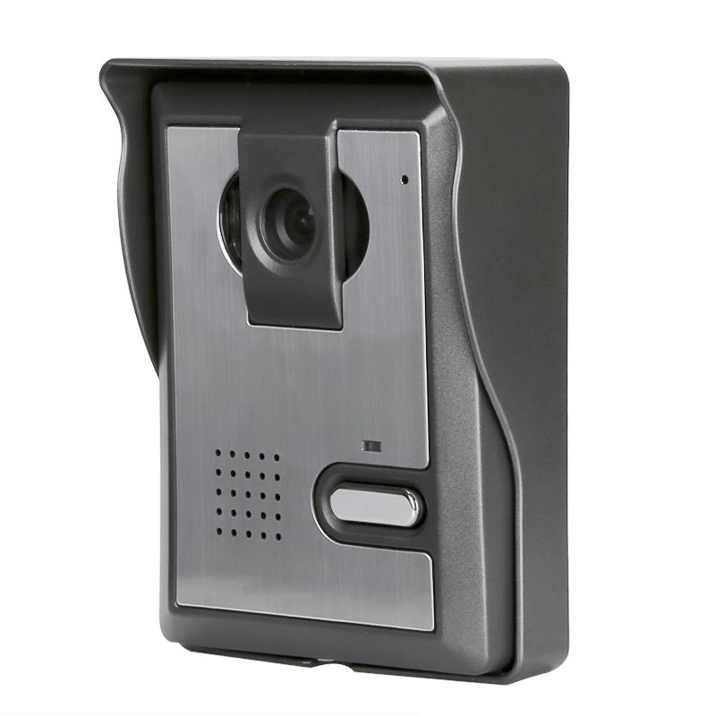 Domovní videotelefon s nočním viděním, meteorologická kontrola, 7 palcový LCD displej, elektronické odemykání