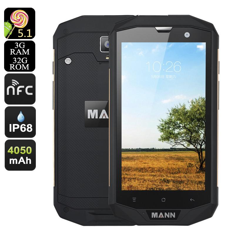 """MANN ZUG 5S+, 4G, IP68, Quad Core CPU, 3GB RAM, 5"""", OTG, NFC, 12MP foto., černá-zlatá"""