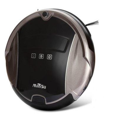 MinSu TR2015A CZ/SK, smart robotický vysavač, LCD displej Voice Alarm Anti-kolizní systém Inteligentní plánování trasy, kávová