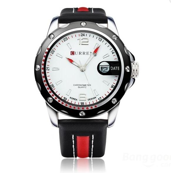 2449a1909 Curren CURREN 8104 Pánské Quartz hodinky, černá-červená