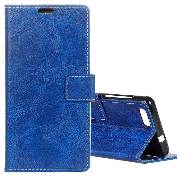 IDEWEI IDEWEI Horizontální flipové kožené pouzdro pro DOOGEE X20 / X20L sloty na karty, držák, peněženka a fotorámeček, modrá