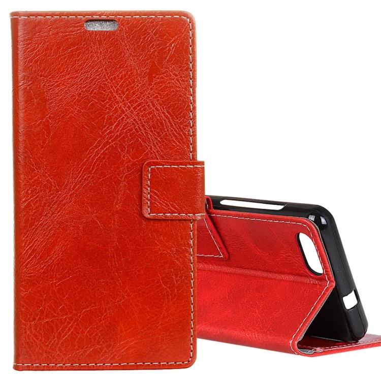 IDEWEI IDEWEI Horizontální flipové kožené pouzdro pro DOOGEE X20 / X20L sloty na karty, držák, peněženka a fotorámeček, červená