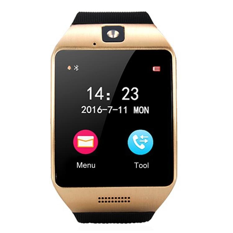 Smartwild Smartwild Q18S, 1,54 palcový displej IPS Screen, MTK6260A procesor, Bluetooth 3.0 inteligentní hodinky s telefon, krokoměr / sedavé připomenutí /monitor spánku/ anti-ztráta / vzdálená kamera / NFC / GSM / 0.3MPx kamera (černá + zlatá)
