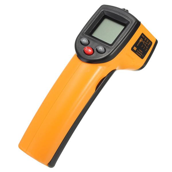 OEM OEM Bezkontaktní infračervený teploměr s laserovým zaměřováním, černá-oranžová