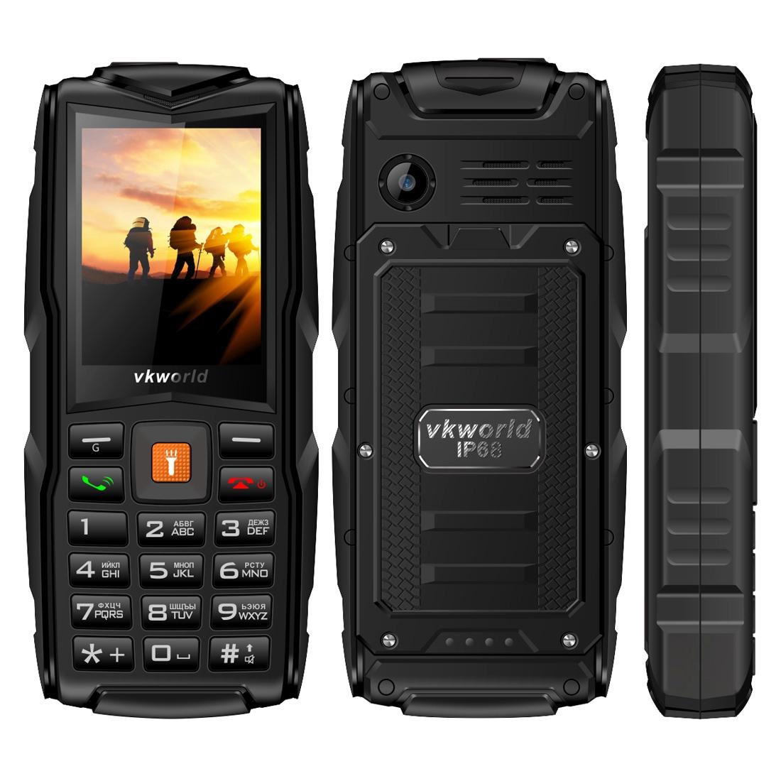VKworld New Stone V3 CZ/SK, na tři SIM karty, baterie 3000mAh, voděodolný, nárazuvzdorný, černá
