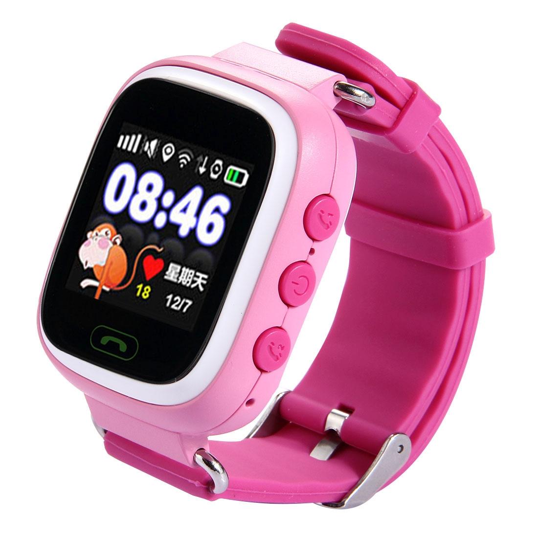 Generic Generic - Tracker Smartwatch, podpora SIM karty, 2G síť, přesné polohování, hlasové volání, tichý režim, krokomer, jeden klíč SOS, elektronický plot, pink