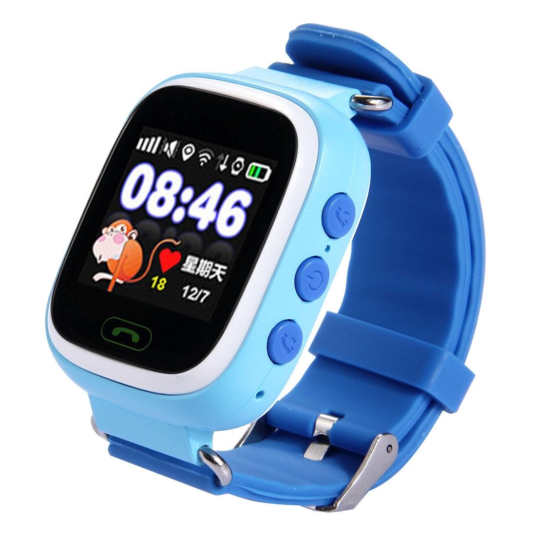 Generic Generic - Tracker Smartwatch, podpora SIM karty, 2G síť, přesné polohování, hlasové volání, tichý režim, krokomer, jeden klíč SOS, elektronický plot, modrá