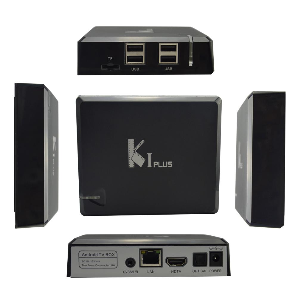 Generic K1 Plus CZ/SK Android TV Box - 4K, Amlogic S905 Quad Core, HDMI 2.0, H.265 Dekodér, černá
