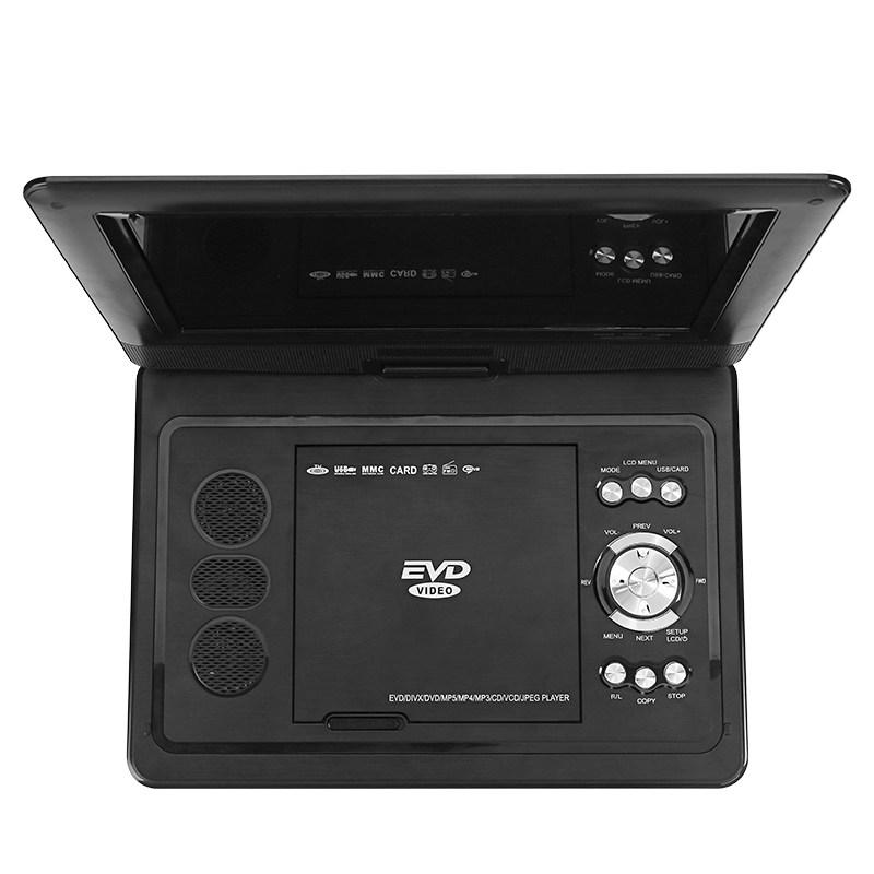 """Generic/Hitachi E721, přenosný přehrávač DVD, 10,1"""", TV, hry, černá"""
