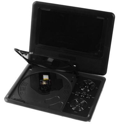 RMVB RMVB NS-758, TV s DVB-T, 7,8 palcový TFT LCD displej Digitální multimediální přenosné DVD s čtečkou karet a USB port, HRY, černá