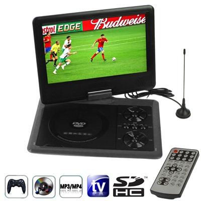 """RMVB RMVB NS-958, přenosný 9,8"""" přehrávač DVD, TV, hry, černá"""