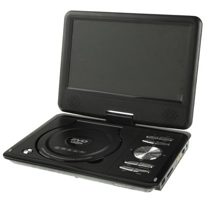 "RMVB RMVB NS-988 EVD9, 9,8"" přenosný EVD/DVD přehrávač s TV a čtečkou SD karet, HRY, černá"
