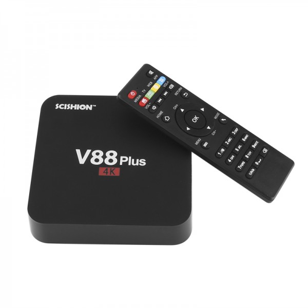 SCISHION V88 Plus CZ/SK, TV Box - 4K , 3D, Android OS, Quad-Core CPU, 2GB RAM, KODI TV