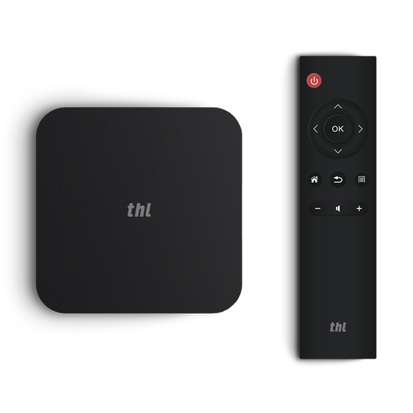 THL THL BOX 1 Pro Android TV Box, Amlogic S905X CPU, Mali 450MP GPU, 2.4+5GHz Wi-Fi, 2GB RAM, 16GB Memory, Airplay, Miracast, černá
