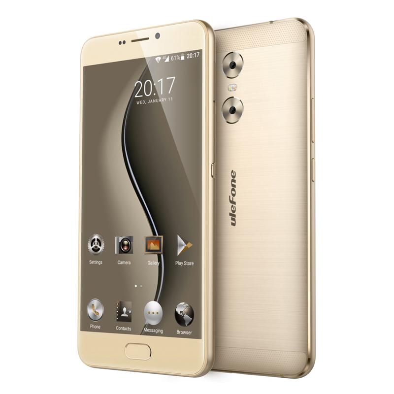 Ulefone Gemini, 13MP, 1080p displej, Android 6.0, čtyřjádrový procesor, 3GB RAM, zlatá