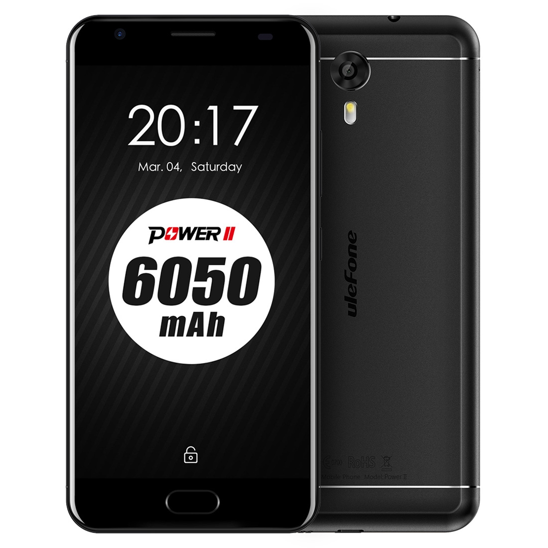 Ulefone Power 2, 4G, Octa-Core CPU, 4GB RAM, 1080p, 6050mAh, 13MP, černá