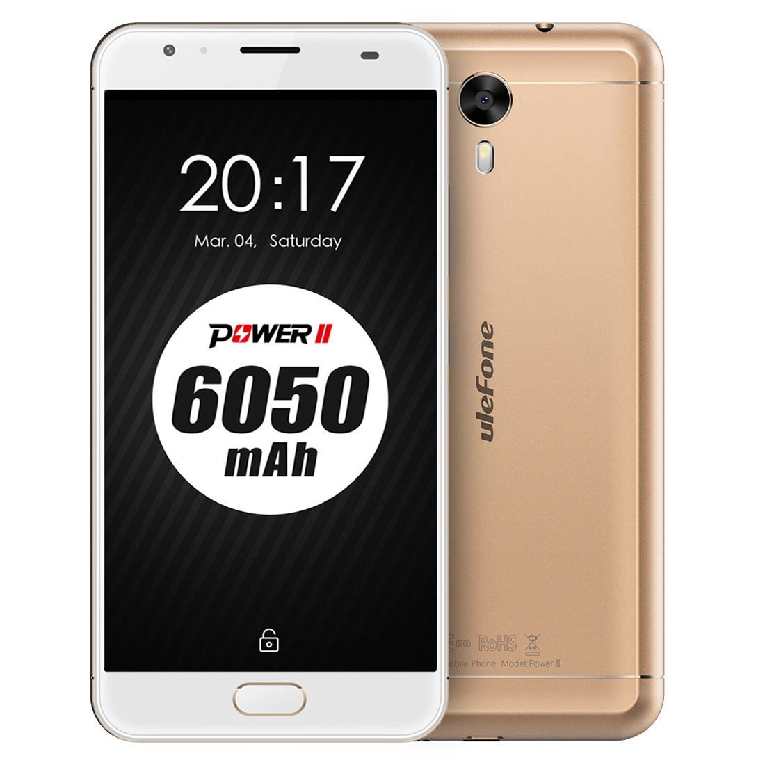 Ulefone Power 2, 4G, Octa-Core CPU, 4GB RAM, 1080p, 6050mAh, 13MP, zlatá