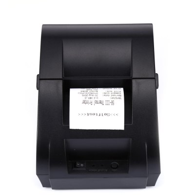 ZJ - 5890K přenosná termotiskárna POS a EET na 58mm pokladní účtenky, černá