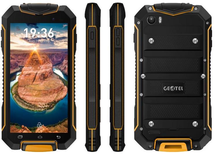 Geotel GEOTEL A1, 7.0 IP67, Android 7, Vodotěsný Corning Gorilla Glass, oranžová