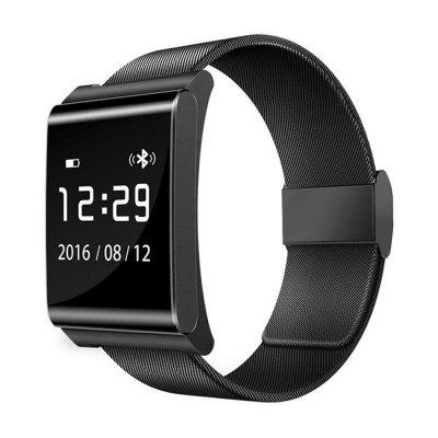 iWear-X9 Plus BLE 4,0 Inteligentní hodinky, ocelový pásek, černá