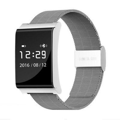 iWear-X9 Plus BLE 4,0 Inteligentní hodinky, ocelový pásek, stříbrná