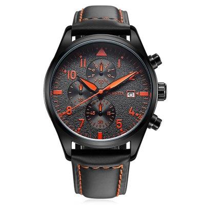 OCHSTIN Outdoor křem. hodinky, Sub-dial vodotěsné 30M, 3 roky záruka, černo-oranžová