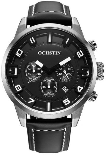 Ochstin - 604G Fashion, Sub-dial 3ATM, značkové Quartz hodinky, černá - stříbrná
