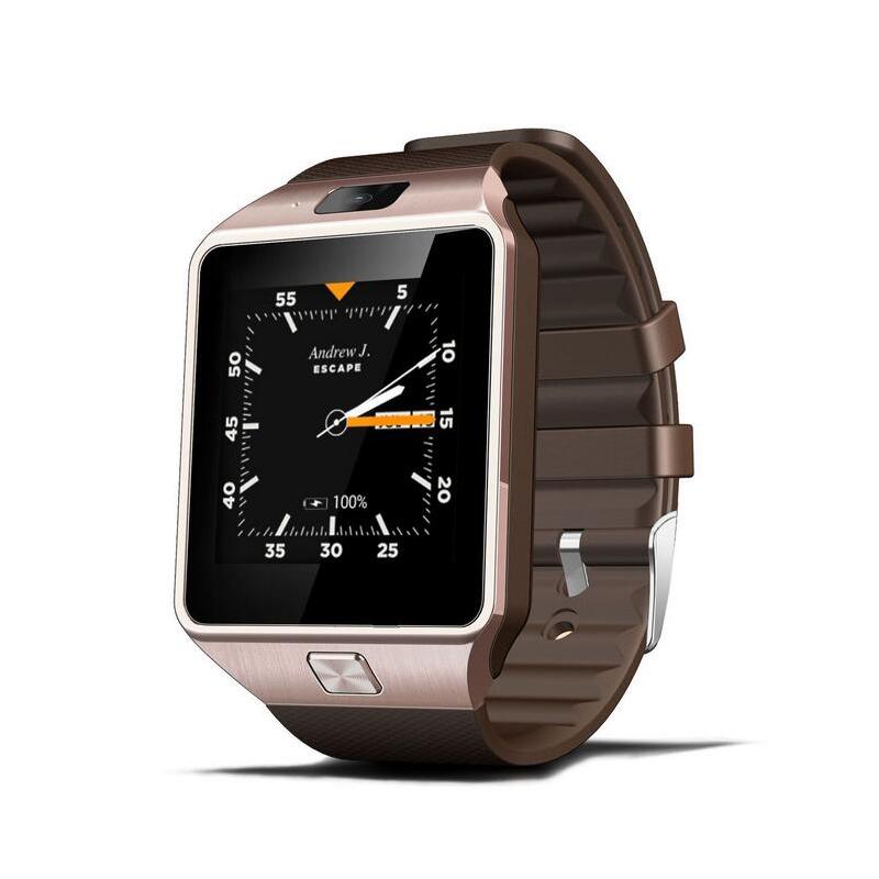 QW09+ CZ/SK, Dual-core hodinky s telefonem v češtině a slovenštině, WIFI, hnědá-zlatá