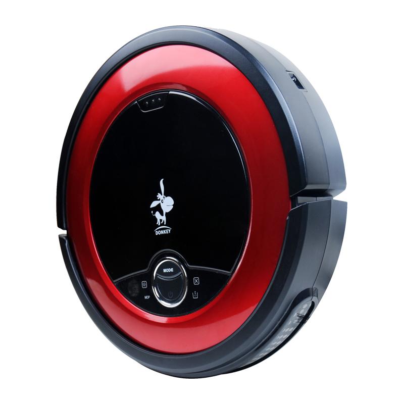 Donkey E1, robotický vysavač, Sací výkon 1000pa, červeno černá