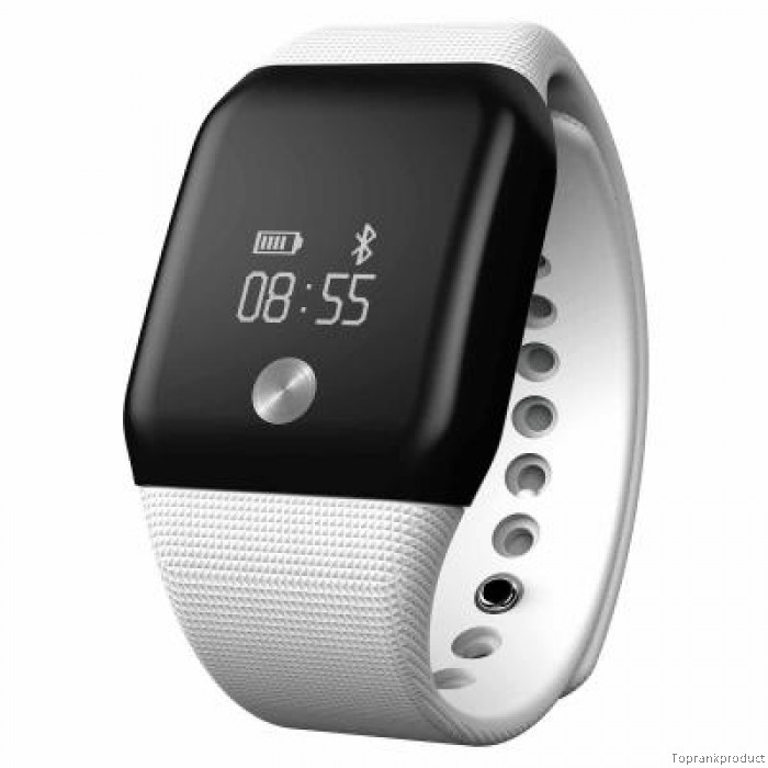 Bestdeal® OLED A99 Dynamic smart hodinky s monitorem tepové frekvence a kyslíku v krvi, bílá