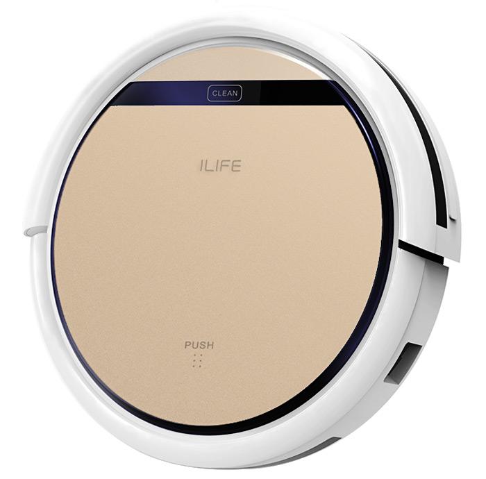 ILife V5 Pro, robotický vysavač, 2 v 1 mokrý a suchý režim, šampáň