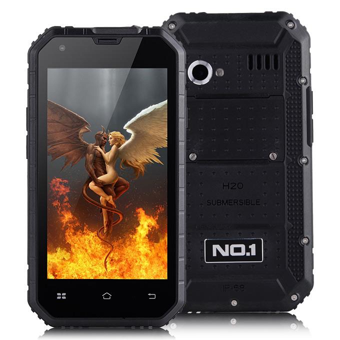 NO.1 NO.1 M2, Android 5.0, 13.0MP Camera / IP68, vodotěsný, prachotěsný, nárazuvzdorný, VÝPRODEJ, černá