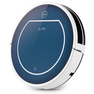 ILife V7 Super Mute, robotický vysavač, suché-mokré čištění, modrá