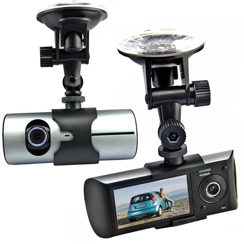 Generic Generic černá skříňka - duální kamera do auta s GPS a G-sensorem, černá