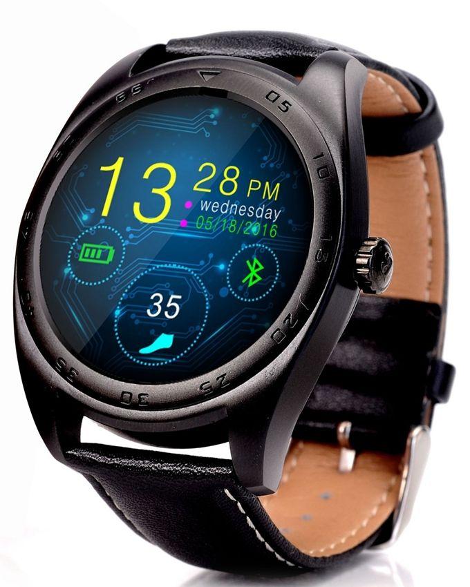 cacgo CACGO K89 Smartwatch kožený pásek černá