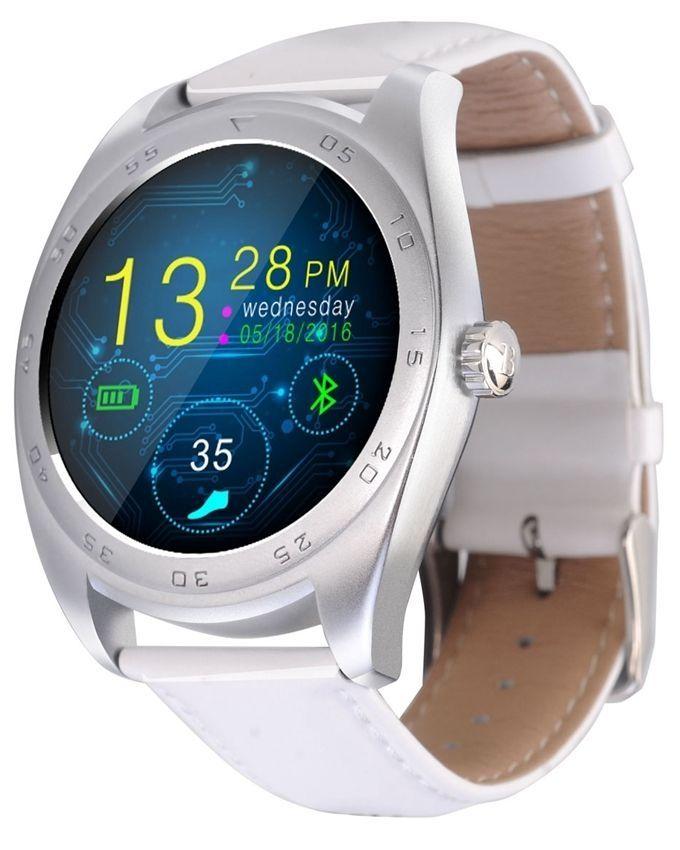 cacgo CACGO K89 Smartwatch kožený pásek bílá