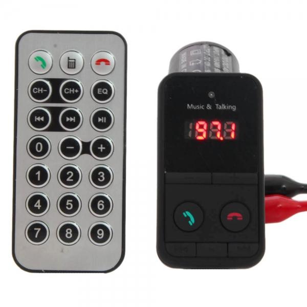 Sada do auta 301E Handsfree s Bluetooth MP3 přehrávač s LED displejem černá