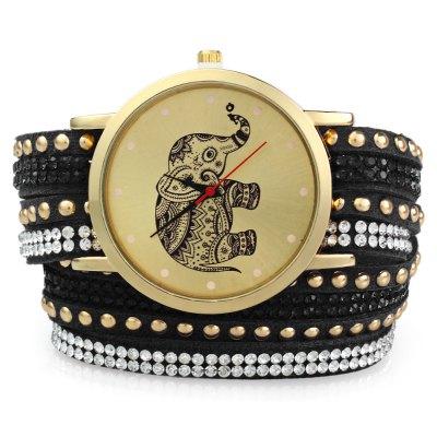 GENEVA A2563 dámské Bracelet Quartz hodinky, černá