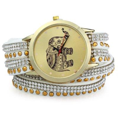 GENEVA A2563 dámské Bracelet Quartz hodinky, bílá